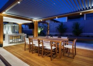 Outdoor Patio, Outdoor Kitchen, Eclipse Opening Roof System