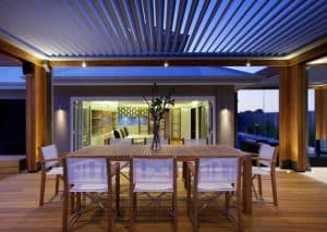Outdoor Patio with Alfresco Opening Roof System