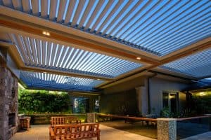 Eclipse Opening Roof System, Outdoor Patio Area