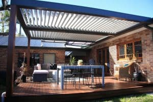 Patio, Pergola, Eclipse Flat Louvres, Opening Roof System