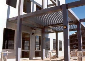 Eclipse Opening Roof System, Patio, Telstra Building Newcastle, HV Aluminium