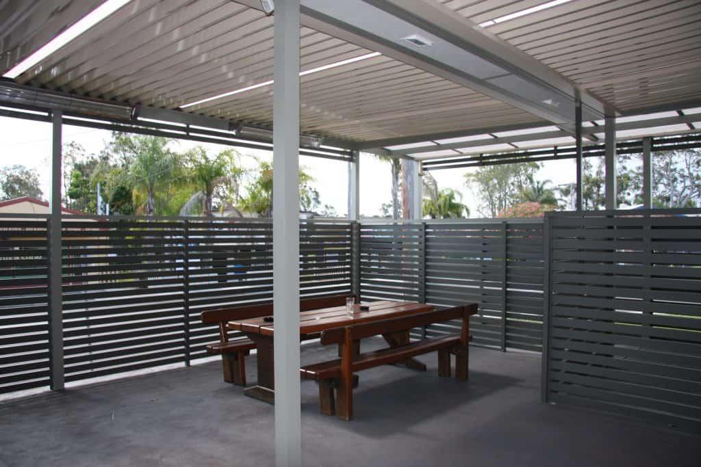 Wangi Wangi Hotel, Priva Screen, Eclipse Opening Roof System, HV Aluminium