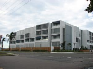 HV Aluminium Eclipse Sun Louvres Privacy Screens on Kingston Apartments Nelson Bay