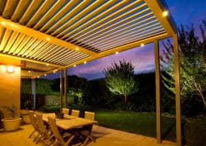 Outdoor Patio with Opening Roof