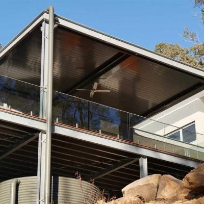 HV Aluminium Eclipse Opening Roof System with Flat Louvres