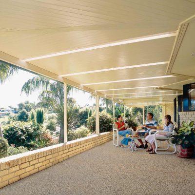 HV Aluminium Patio, Enclosed Roof, Outdoor Living Area