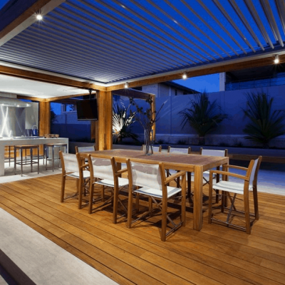 opening roof patio outdoor kitchen